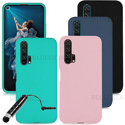 For Honor 20 7S 8S 8A 8X 10 Lite 20 Pro Case Silicone Gel Cover Rubber + Stylus