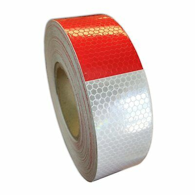 2x150 Dot-c2 Premium Reflective Red And White Conspicuity Tape Trailer 1 Roll