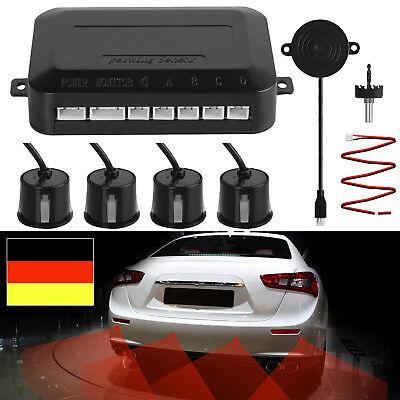 Einparkhilfe 4 Sensoren zum Nachrüsten hinten Parkhilfe/Rückfahrwarner PDC DE