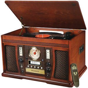 Innovative-Technology-ITVS-750N-Aviator-5-in-1-Wooden-Music-Center-NEW