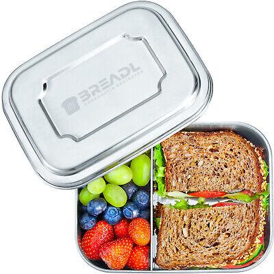 BREADL Edelstahl Brotdose mit 2 Fächern - Lunchbox für Kinder & Erwachsene