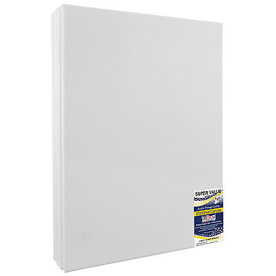 16 X 20 Inch Super Value Quality Acid Free 12 Ounce Stretched Canvas 5 Pack