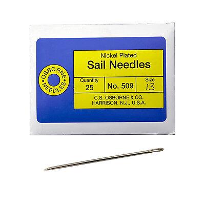 C S  Osborne Pack Of 25 Triangular Point Sail Needles  509  Size 13 Gauge