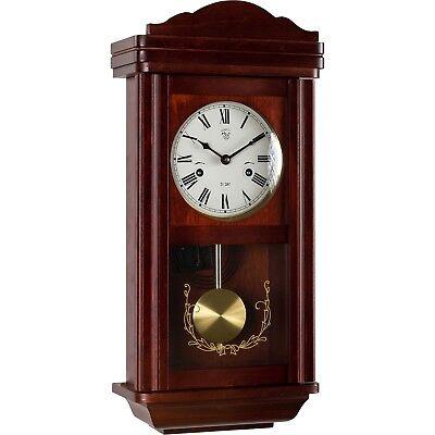 Wanduhr Pendeluhr Uhr Regulator im Mahagoni Stil Pendel