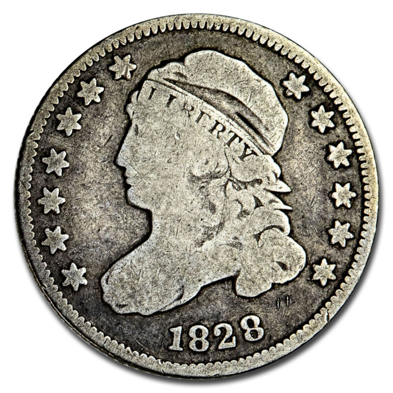 1828 Capped Bust Dime VG (Small Date, Square Base 2) - SKU#211842