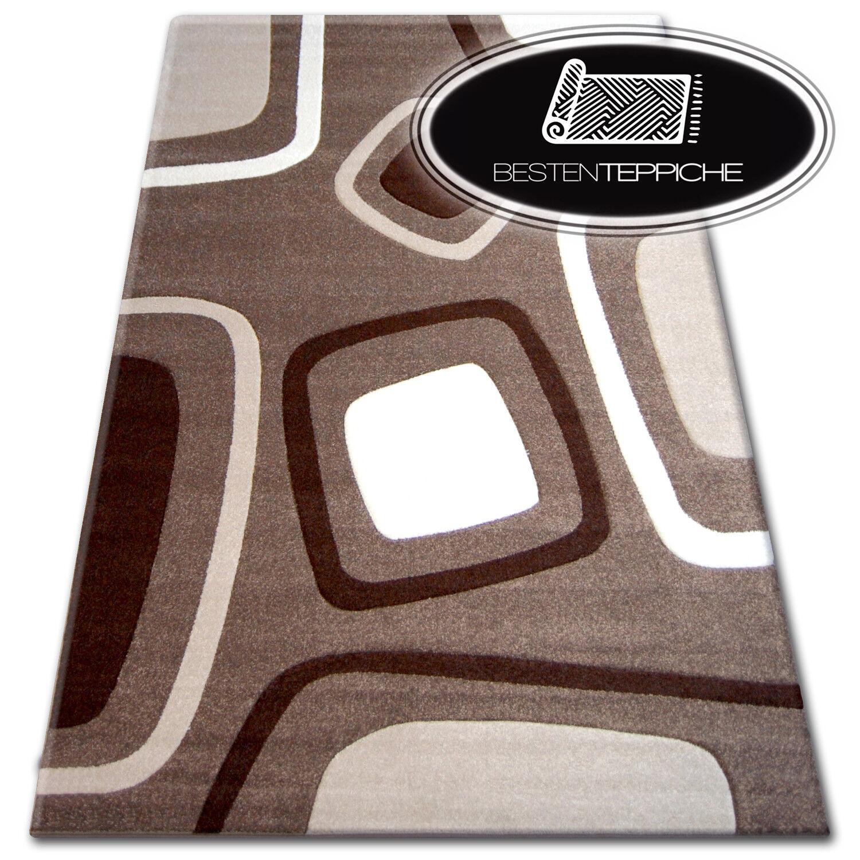 Modern Teppich PILLY mokka kakao - 140 x 190 cm - GROßER VERKAUF -70%