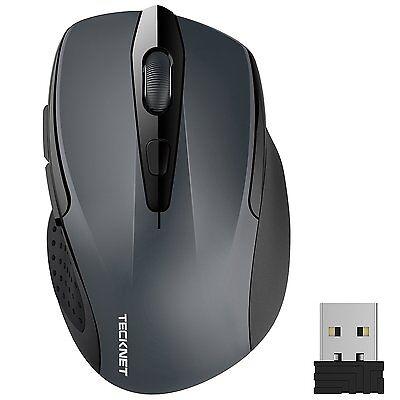 Mouse Senza Fili TeckNet Pro da 2400DPI e Durata delle batterie di 24 Mesi, 2.4G