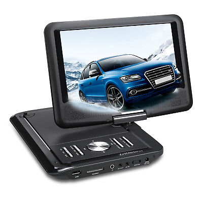 BLACK 9 inch Portable DVD Player Monitor Car & Home Use +Mount Case +Car Charger