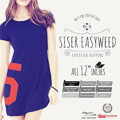 "Siser Easyweed Heat Transfer Vinyl 15"" x 12"" or 20"" x 12"""