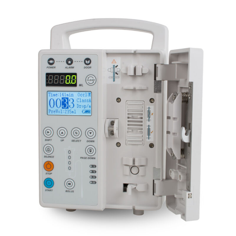 Infusion Pump IV Fluid Injector With Audible &Alarm VET OR Human Rate Accuracy
