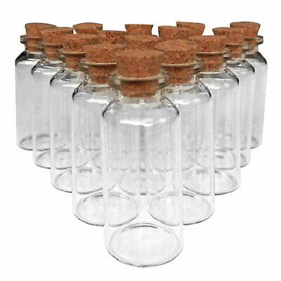 7e2f1444e17 18pcs Small Glass Cork Jar Bottles DIY Wedding Decor Mini Vials ...