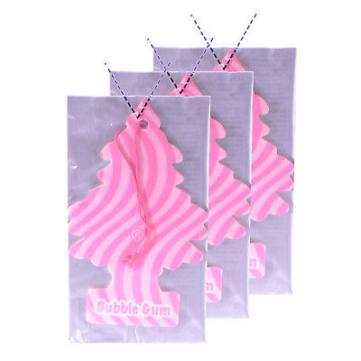 Little Trees Cardboard Hanging Car, Home & Office Air Freshener, Bubble Gum - Cardboard Trees