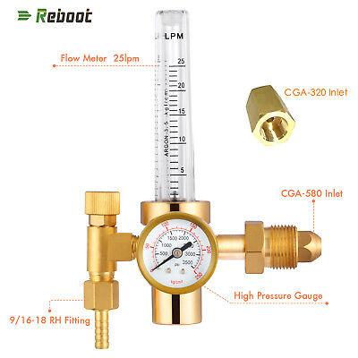 Argon Flowmeter Welding Regulator Gas Valve Copper Migtig Accessory Co2 Adaptor