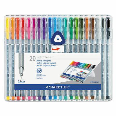 Staedtler Triplus Fineliner Marker Super Fine Water-based 20 Color Set 334sb20a6