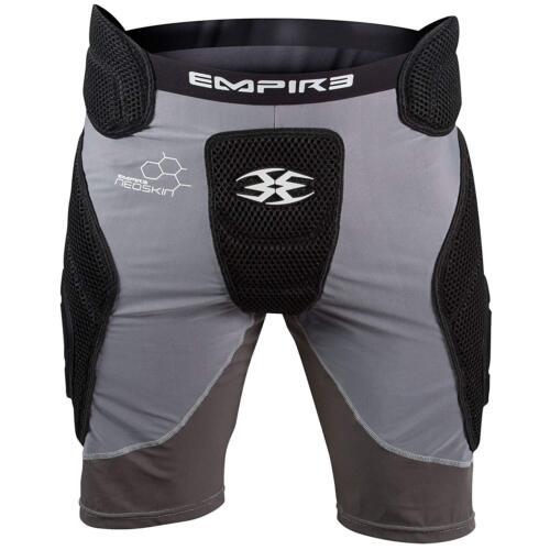 Empire Neoskin Paintball Padded Slide Shorts - YOUTH NEW Black Grey