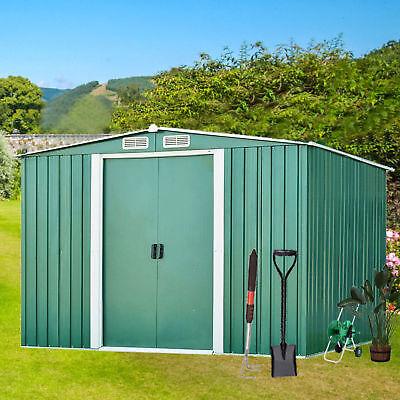 6'x 4'Outdoor Garden Storage Shed Tool House Sliding Door Steel New