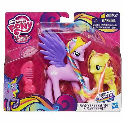 My Little Pony Princess Sterling Fluttershy Figures Rainbow Girls Cute Gift Toy