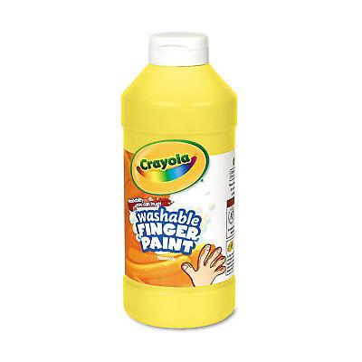 Crayola Washable Fingerpaint Yellow 16 oz 551316034