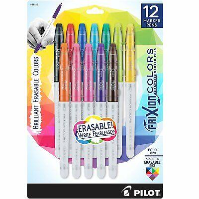Pilot Frixion Colors Erasable Marker Pen Bold Point 2.5mm Asst Colors 12box