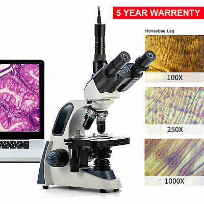 Swift 40x-2500x Led Trinocular Compound Microscope With 5mp Digital Camera