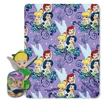 - 2 PIECE Disney Fairiy Tinkerbell Blanket Fleece Throw with Hugger Toy NWT