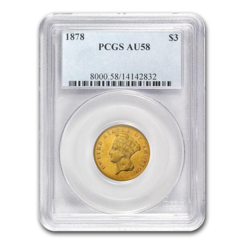 1878 $3 Gold Princess AU-58 PCGS - SKU#7383