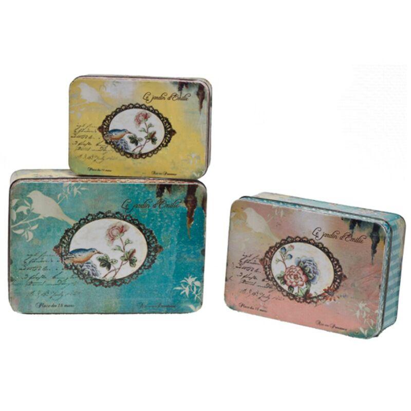 french tin boxes nesting set of three