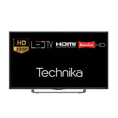 "Technika 32G22B-HD 32"" LED TV HD Ready 720p With Freeview Tuner HD HDMI USB"