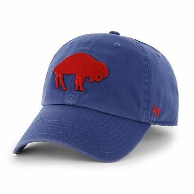 Buffalo Bills '47 Brand Throwback Retro Logo Clean Up Adjustable Hat- Royal (Buffalo Bills Retro Hat)