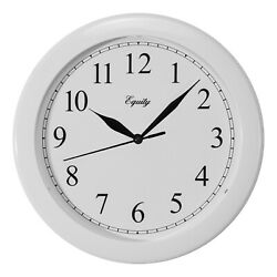 25201 Equity by La Crosse 10 Plastic Analog Wall Clock - White