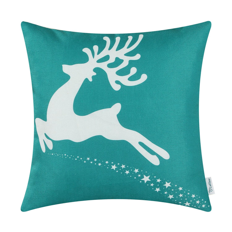 CaliTime Cushion Cover Throw Pillow Shells Christmas Holiday