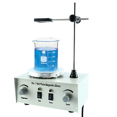 79-1 Hotplate Magnetic Stirrer Magnetic Mixer With Stir Bar 1000ml Us Free Ship