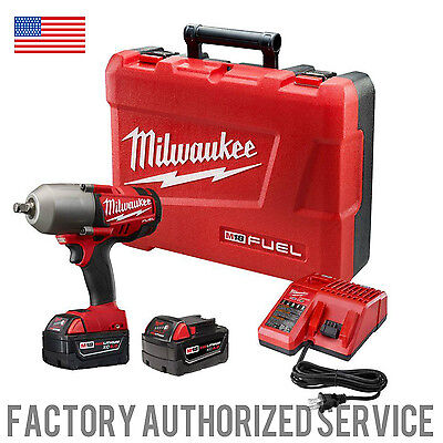 "MILWAUKEE 2763-22 M18 Fuel 1/2"" High Torque Impact Wrench with Friction Ring Kit"