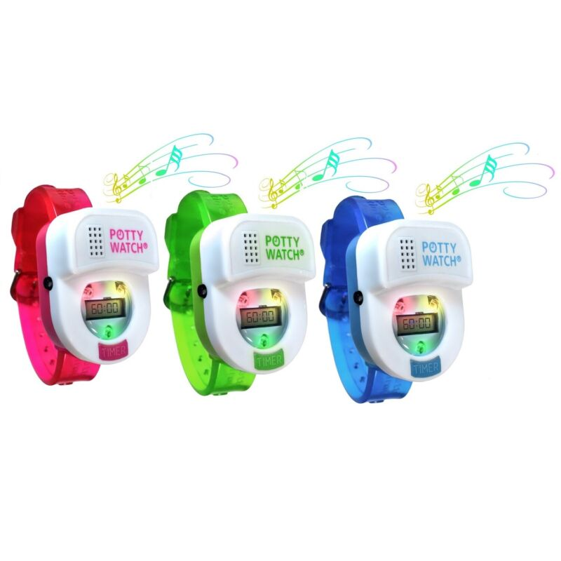 Potty Time Watch Toddler Toilet Training Aid Reminder Timer~ Blue, Green or Pink