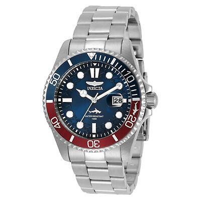 Invicta Men's Watch Pro Diver Japanese Quartz Blue Dial Silver Bracelet 30951