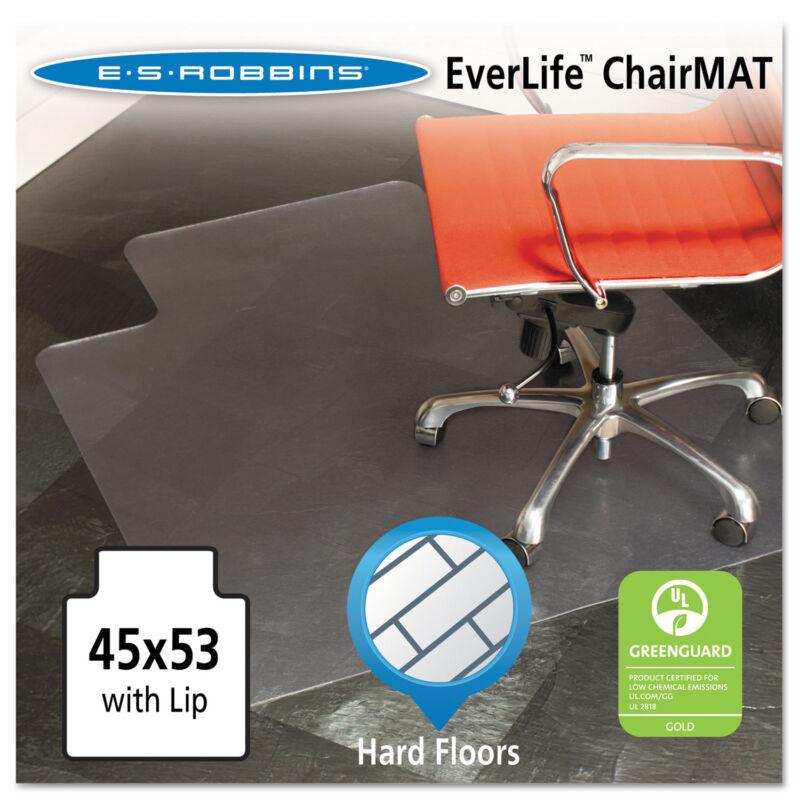 Es Robbins 45x53 Lip Chair Mat Multi-Task Series for Hard Floors Heavier Use