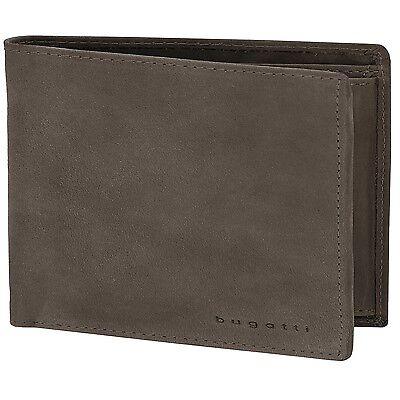 bugatti Quito Quer Herren Geldbörse Portemonnaie Leder 12,5 cm (braun)