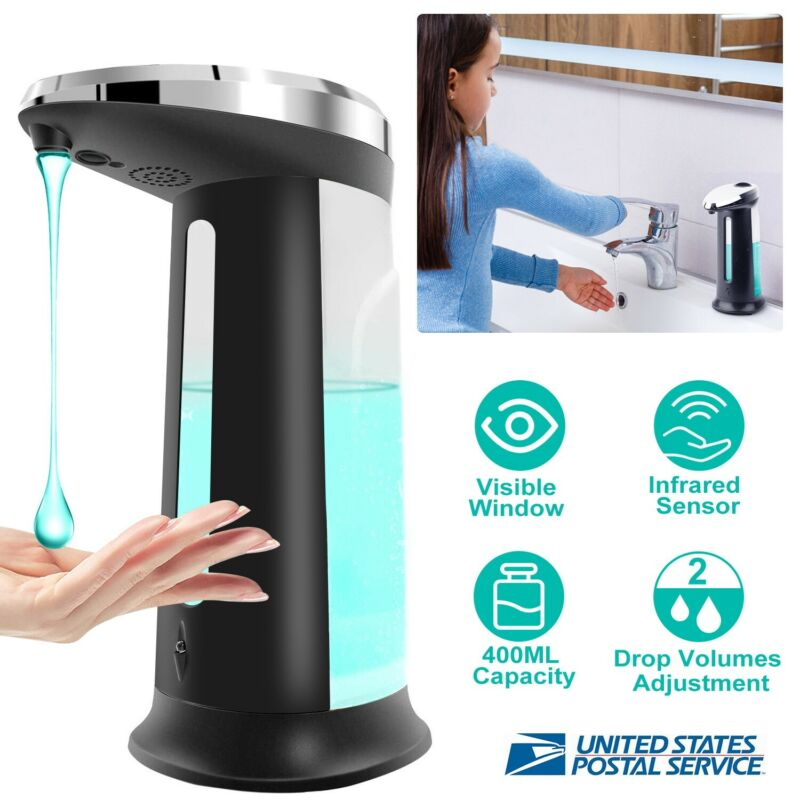 400ML Automatic Liquid Soap Sanitizer Dispenser Touchless Hands-Free Sensor