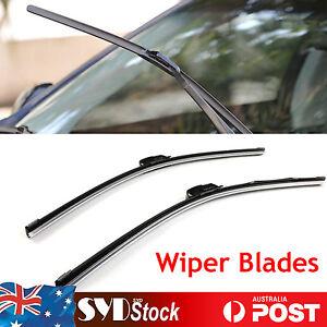 Car Flex Windscreen Wiper Blades Refills Pair Suit (06 - 14) Nissan Navara D40