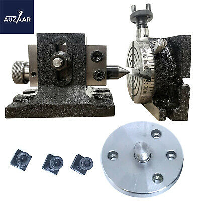 3 Inch Precision Rotary Table Hv 4 Slots With Single Bolt Tailstock Backplate