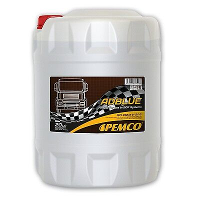 20 (1x20) Liter PEMCO ADBLUE SCR-Harnstofflösung zur Abgasreinigung DIN 70070