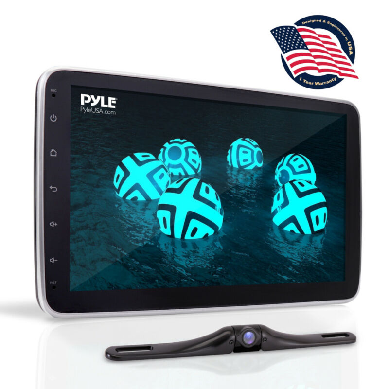 """Pyle PL1SN104 10.1"""" Touch Screen In-Dash Single DIN Player with Back up Camera"""