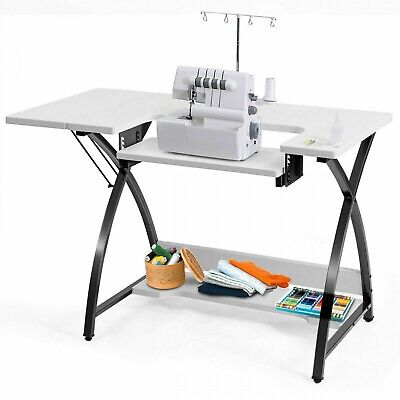 Sewing Machine Table Top with Storage Craft Patterns Singer Treadle Vintage Desk