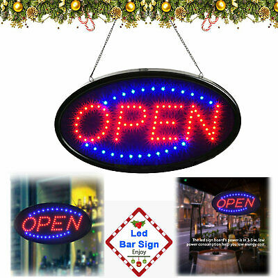 Animated Motion Running Led Business Open Sign Onoff Switch Bright Light New