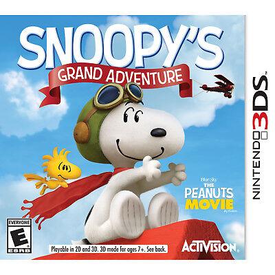 The Peanuts Movie  Snoopys Grand Adventure 3Ds  Brand New