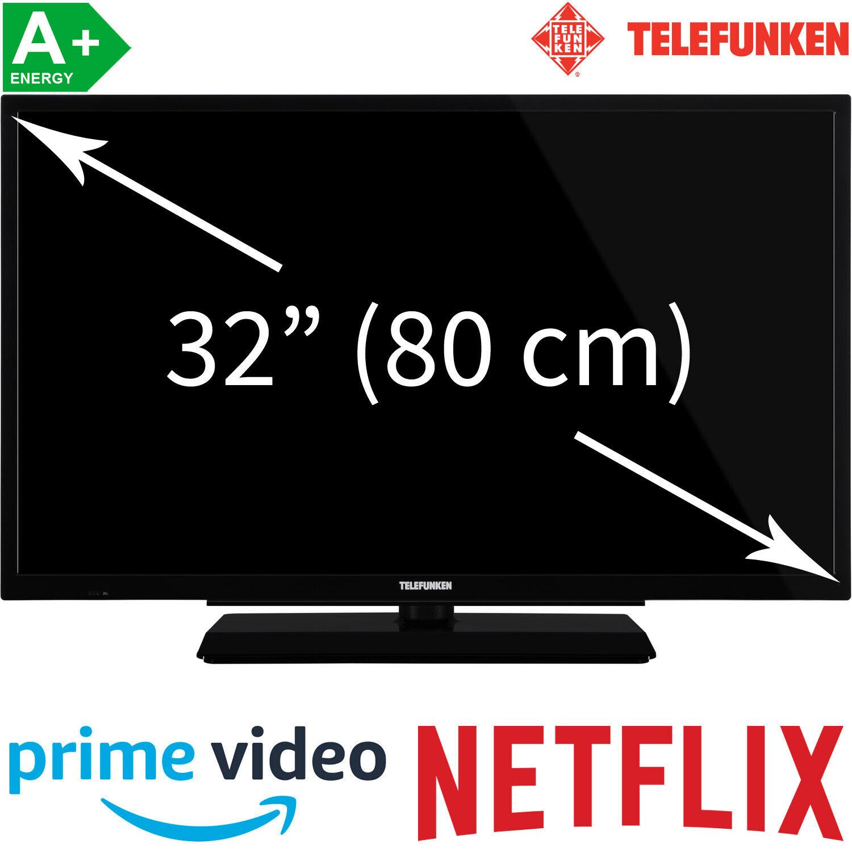 """Telefunken 32"""" HD-ready LED TV HD Triple Tuner Smart TV WLAN Fernseher 80 cm A"""