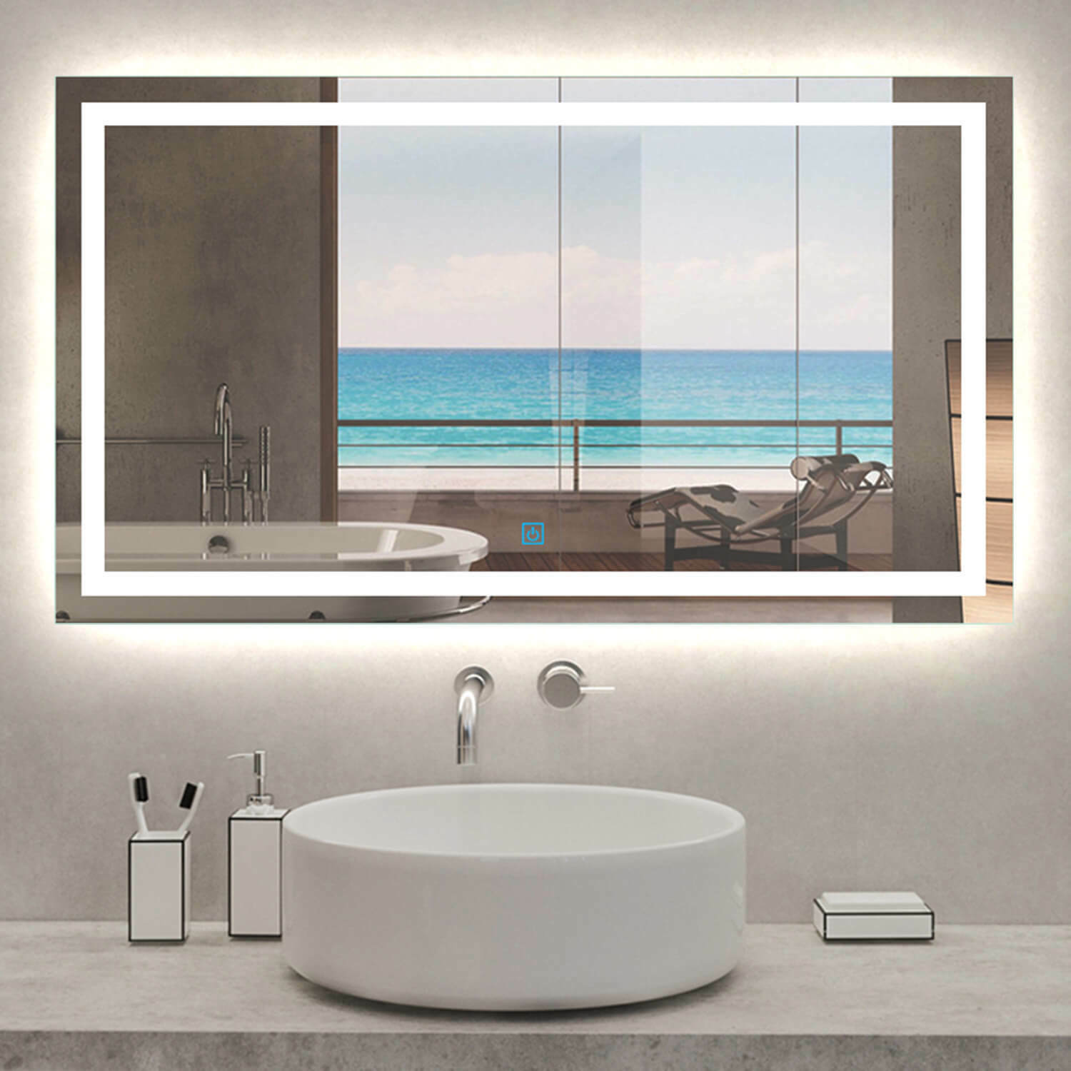 800mm Round Bathroom Mirror With Light