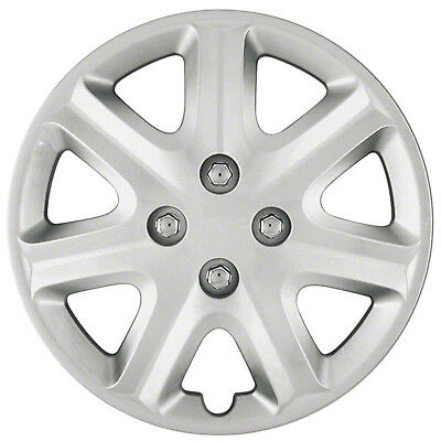 Wheel Covers Hubcaps new set of 4 Silver painted 15