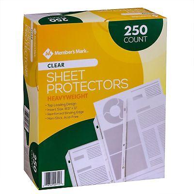 Members Mark Clear Sheet Protectors - 250 Pk
