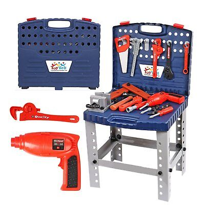 Construction Workshop Tool Educational Pretend Toy Mechanic Toolbox Kids Boy New
